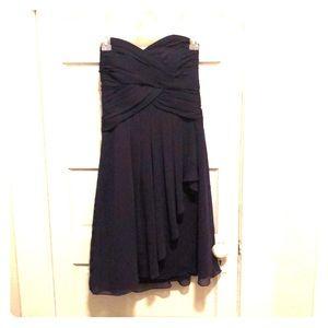 Dark purple bridesmaids dress